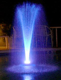 floating water fountain with 48 LED light